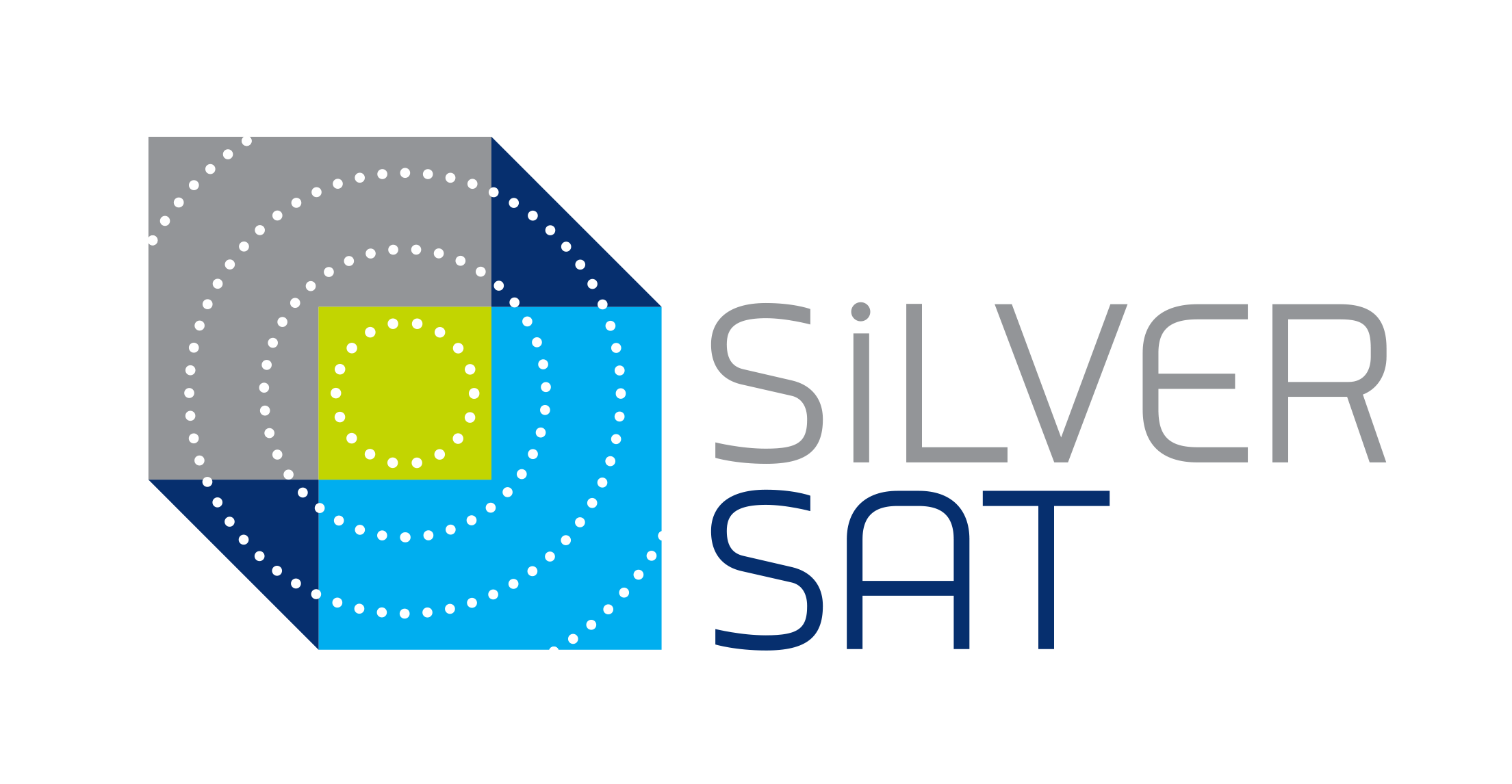 SilverSat Logo - blue and gray cubes